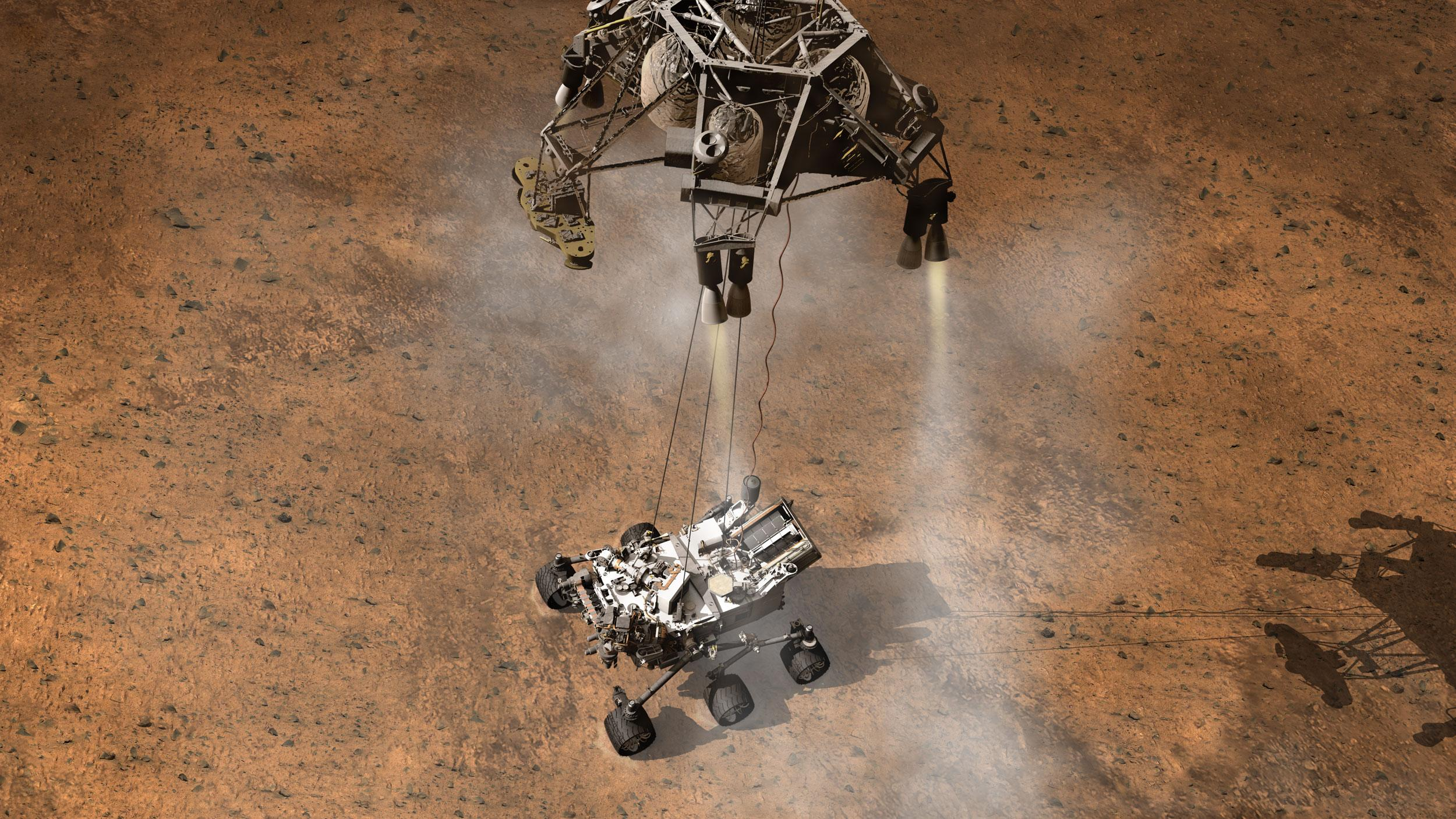 speech on successful landing on mars One of the key challenges any spacecraft seeking to make a soft landing on mars would face is that the thin atmosphere of the red planet provides barely any air resistance.