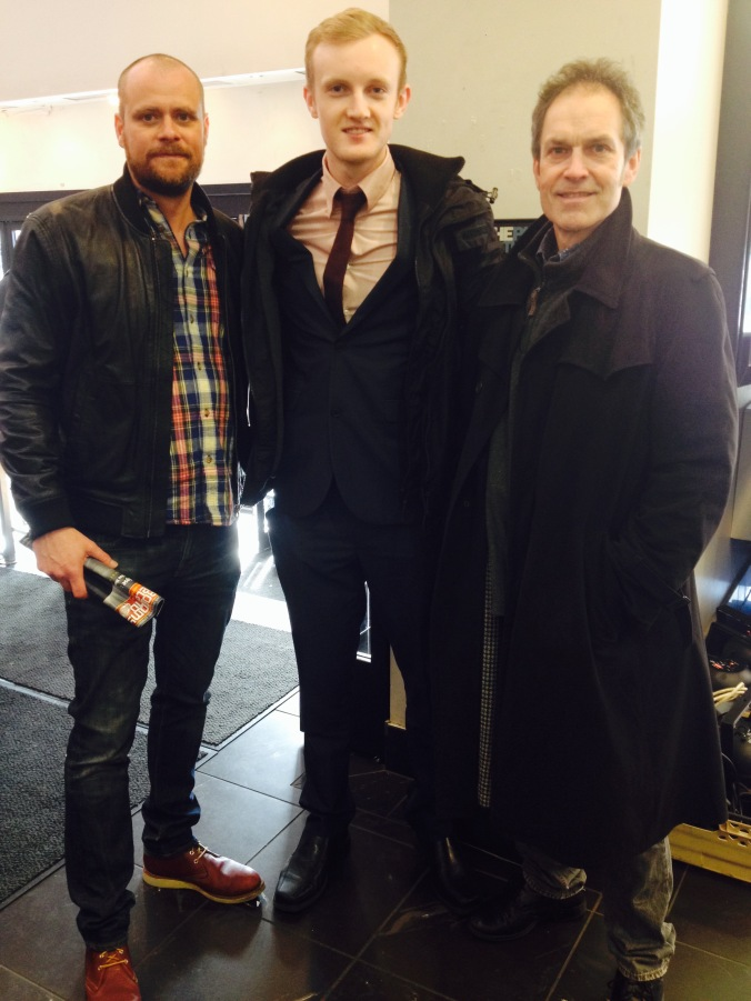 (l-r) Gareth Dodds (producer), Shane Hannon (author), Mark Craig (director). Jameson Film Festival, Dublin - March 2015.